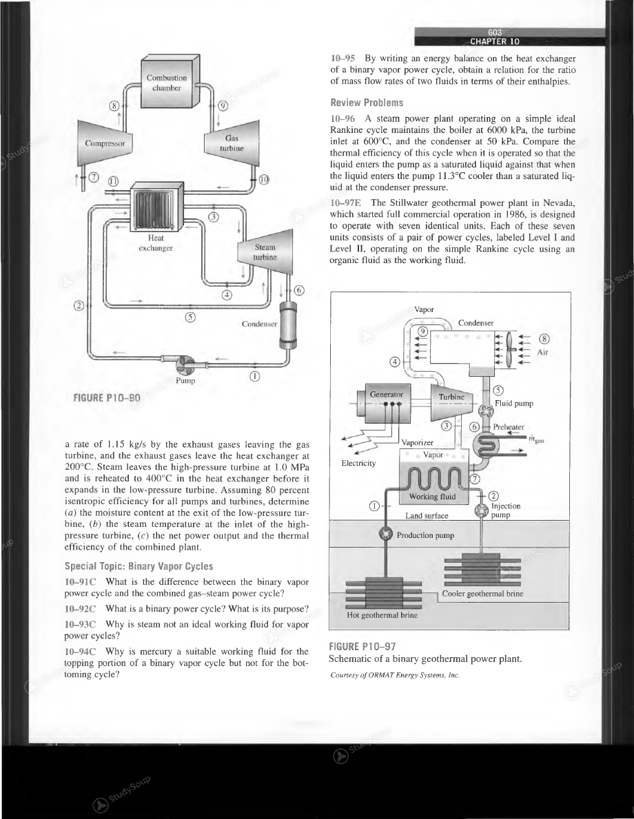 588 Vapor And Combined Power Cycles Gas Turbine Plants Are Being Geothermal Plant Ts Diagram Background Image